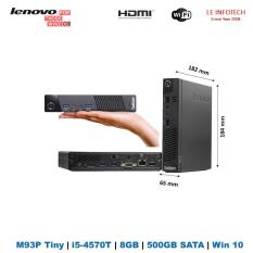 Lenovo ThinkCentre M93p Mini PC small Desktop Tiny Desktop core i5-4570T 4th Gen #2.9Ghz 8GB RAM 500GB SATA HDD HDMI Wifi Win 10 Pro Used