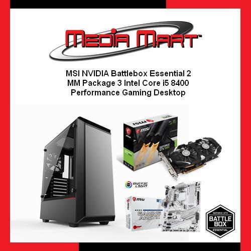 MSI NVIDIA Battlebox Essential 2, Performance Gaming Desktop for Best PUBG Gaming Experience