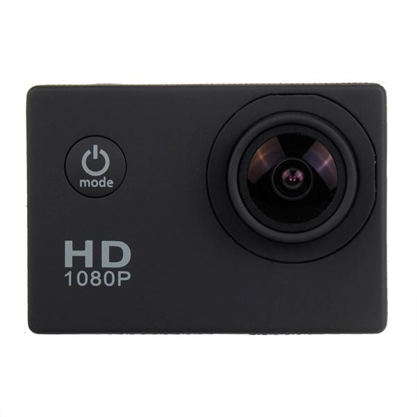 Sports Cam * Go Pro Desigh n Style * 480P Full HD * 30M Waterproof * 170 Deg Wide-Angle * 2 Inch LCD * For Sports Hiking Motorcycle Cars * Android and iOS * Micro SD Record * No Hidden Cost