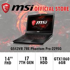 MSI GS43VR 7RE Phantom Pro-229SG (I7-7700HQ/16GB DDR4/128GB SSD +1TB HDD/6GB NVIDIA GTX1060) GAMING LAPTOP