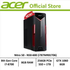 Acer Nitro 50 N50-600 (i787MR81T06) Gaming Desktop