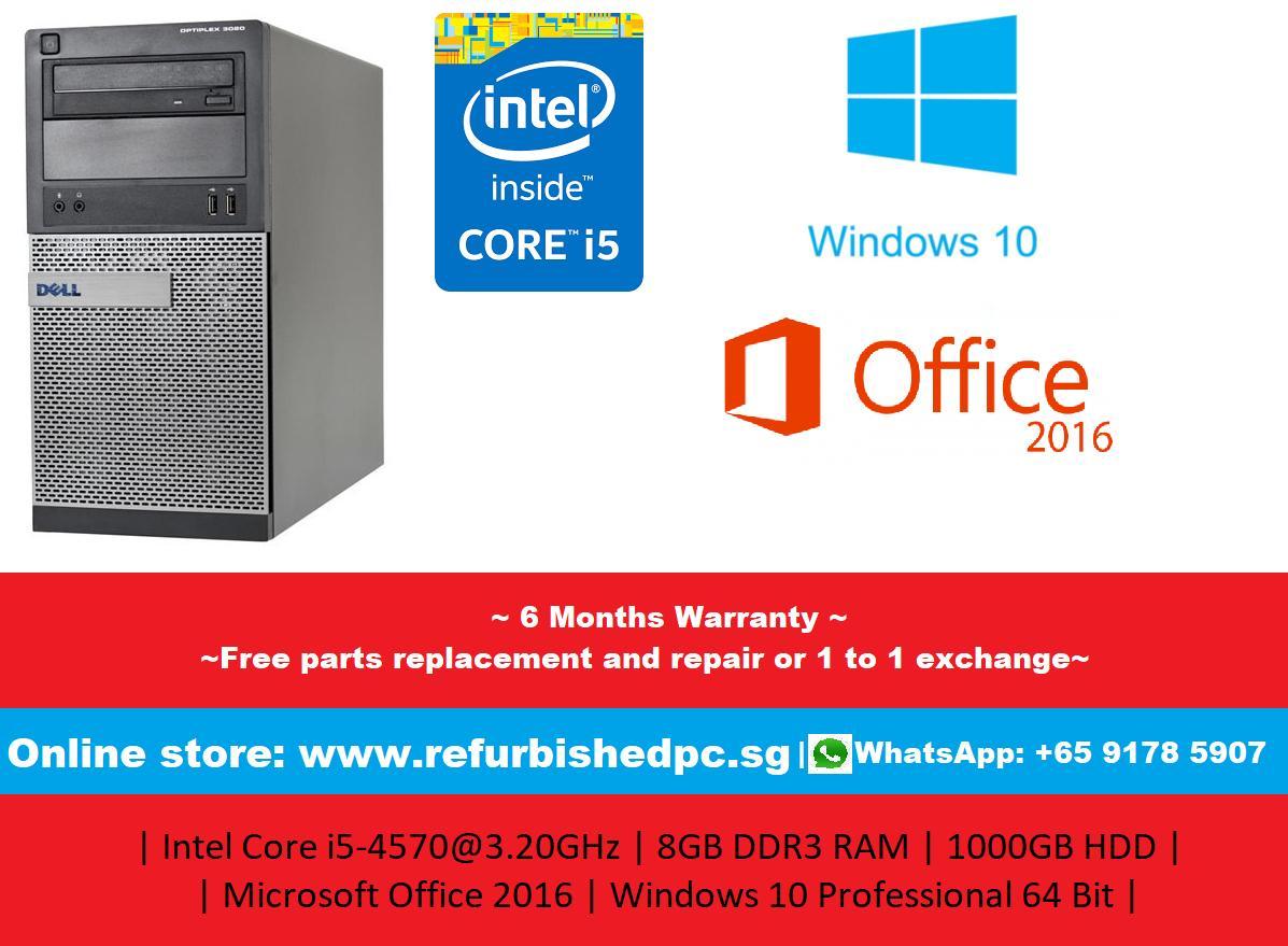 [Refurbished] Dell Optiplex 3020 Mini Tower | Intel Core i5-4570 @ 3.2GHz | 8GB DDR3 RAMS | 1000GB HDD |...