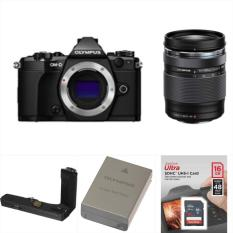 Olympus OM-D E-M5 Mark II (Black) Camera (Body) + Olympus 14-150mm f/4.0-5.6 II Lens for Micro Four Thirds Cameras (Black)