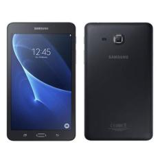 SAMSUNG T285 BLACK TABLET / FREE SCREEN PROTECTOR. BRAND NEW SEALED SET WITH 1 YEAR LOCAL WARRANTY.