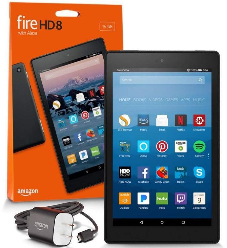 Fire HD 8 Tablet with Alexa, 8″ HD Display, 16 GB, Black – with Special Offers