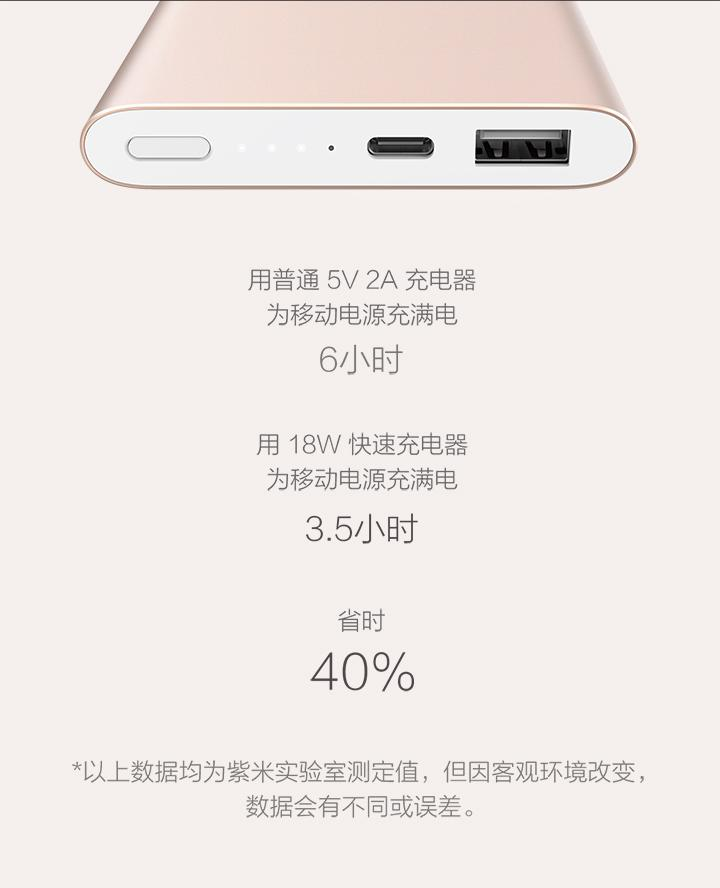 Xiaomi 10000mAh Pro Type-C Power Bank (Gold / Grey)