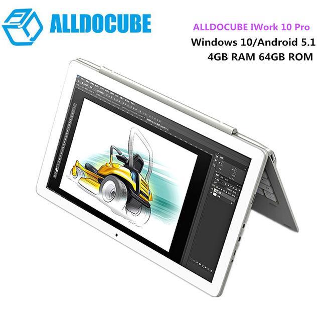 ALLDOCUBE iWork 10 Pro 2 in 1 Tablet PC 10.1 inch Windows 10 + Android 5.1 Intel Cherry Trail x5-Z8350 Quad Core 1.44GHz 4GB RAM 64GB ROM HDMI – intl