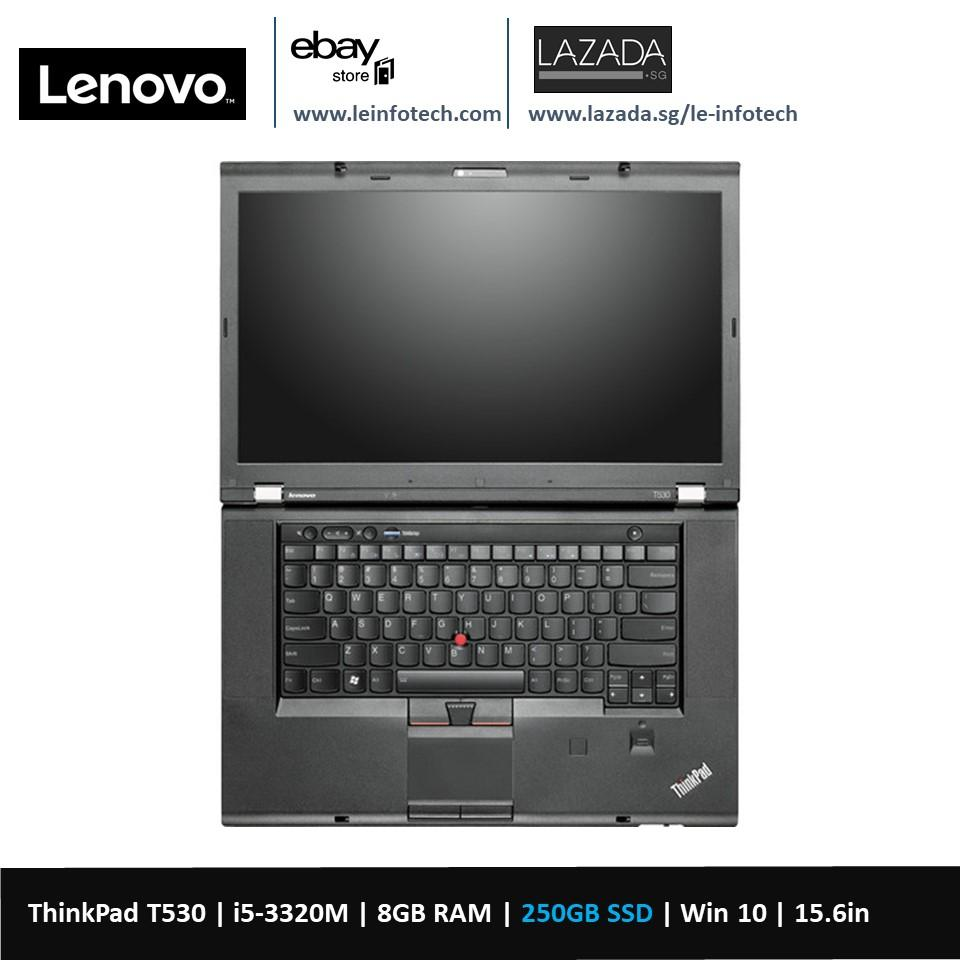 Lenovo ThinkPad T530 15.6in LED Notebook i5-3320M #2.6Ghz 8GB DDR3 RAM 250GB SSD Intel HD 4000 Graphics card Win 10...