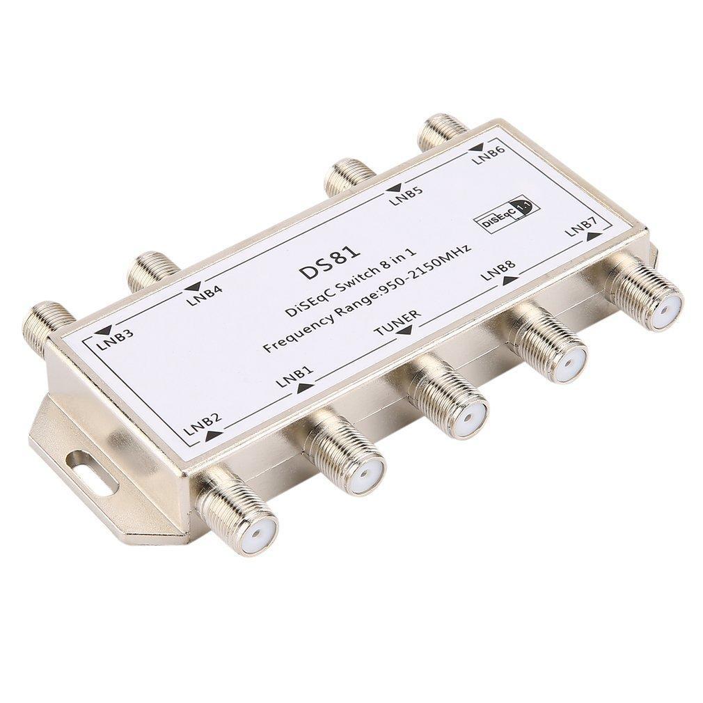 Allwin GST 8101 8 In 1 Satellite Signal DiSEqC Switch LNB Receiver Multiswitch