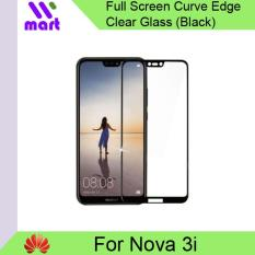 Tempered Glass FULL Screen Protector (Clear with Black Color) For Huawei Nova 3i