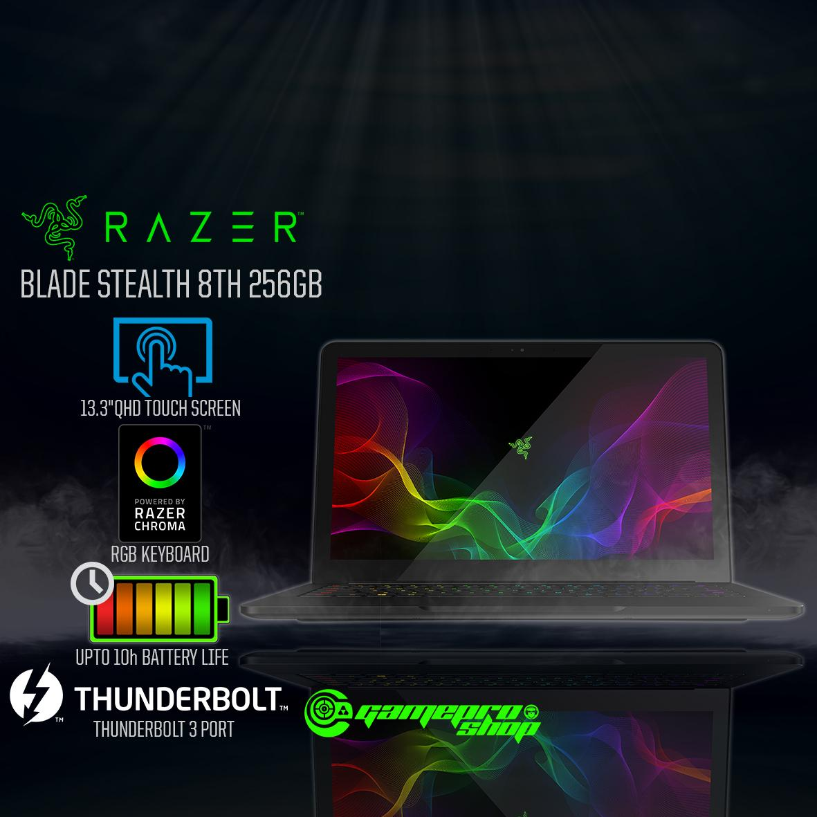 RAZER BLADE STEALTH 13.3″ with 8th Gen- (256GB / 512GB) *10.10 PROMO*