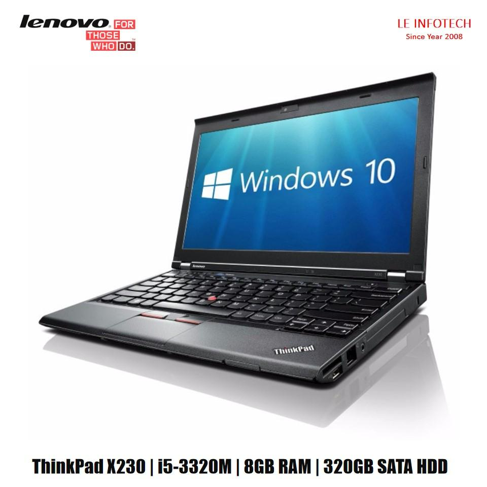 Lenovo Thinkpaxd X230 12.5in Notebook i5-3320M #2.6Ghz 8GB DDR3 RAM 320GB HDD Win 10 Pro Used one Month Warranty