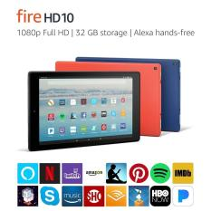 Fire HD 10 Tablet with Alexa Hands-Free, 10.1 inch 1080p Full HD Display, 32 GB, Black – with Special Offers