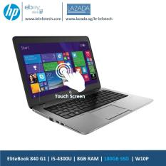 HP Elitebook 840 G1 Touchscreen Notebook 14in i5-4300U@1.9Ghz 4th Gen 8GB RAM 180GB SSD Win 10 Pro Used