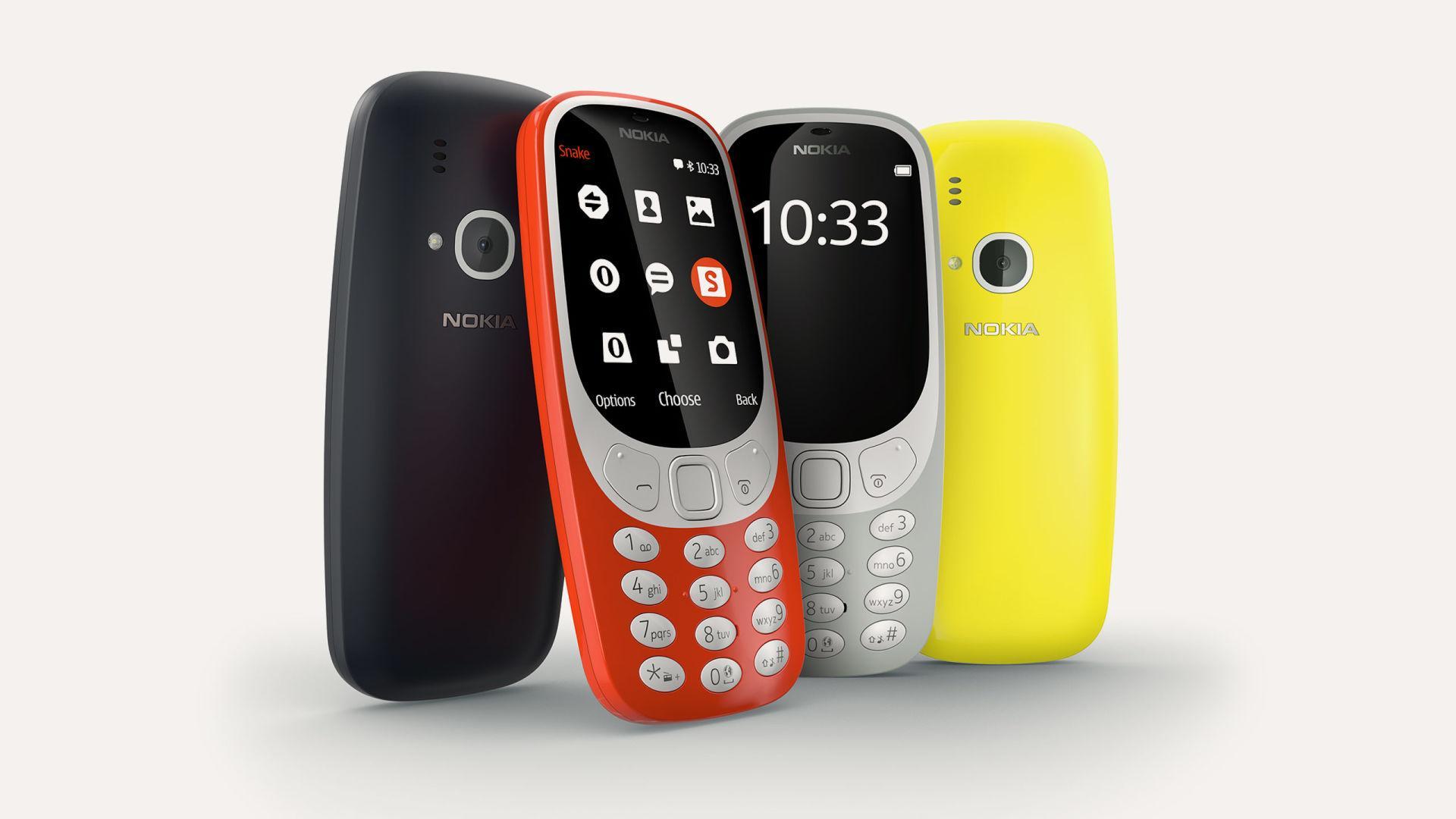 Nokia 3310 New Model 3G Bluetooth Free (Export)