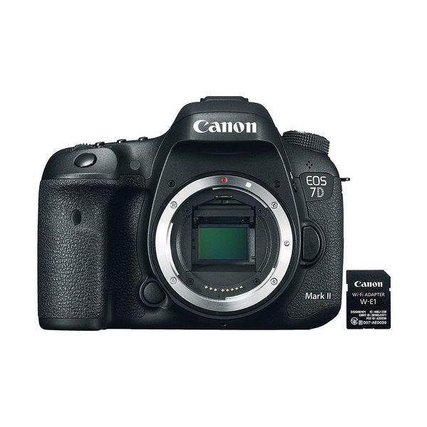 Canon EOS 7D Mark II DSLR Camera (Body Only) + Canon W-E1 Adapter