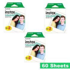 Fujifilm Instax Square Plain White Instant Polaroid Film 60 Sheet for SQ 10 Camera Sp3 3 Printer SQ6
