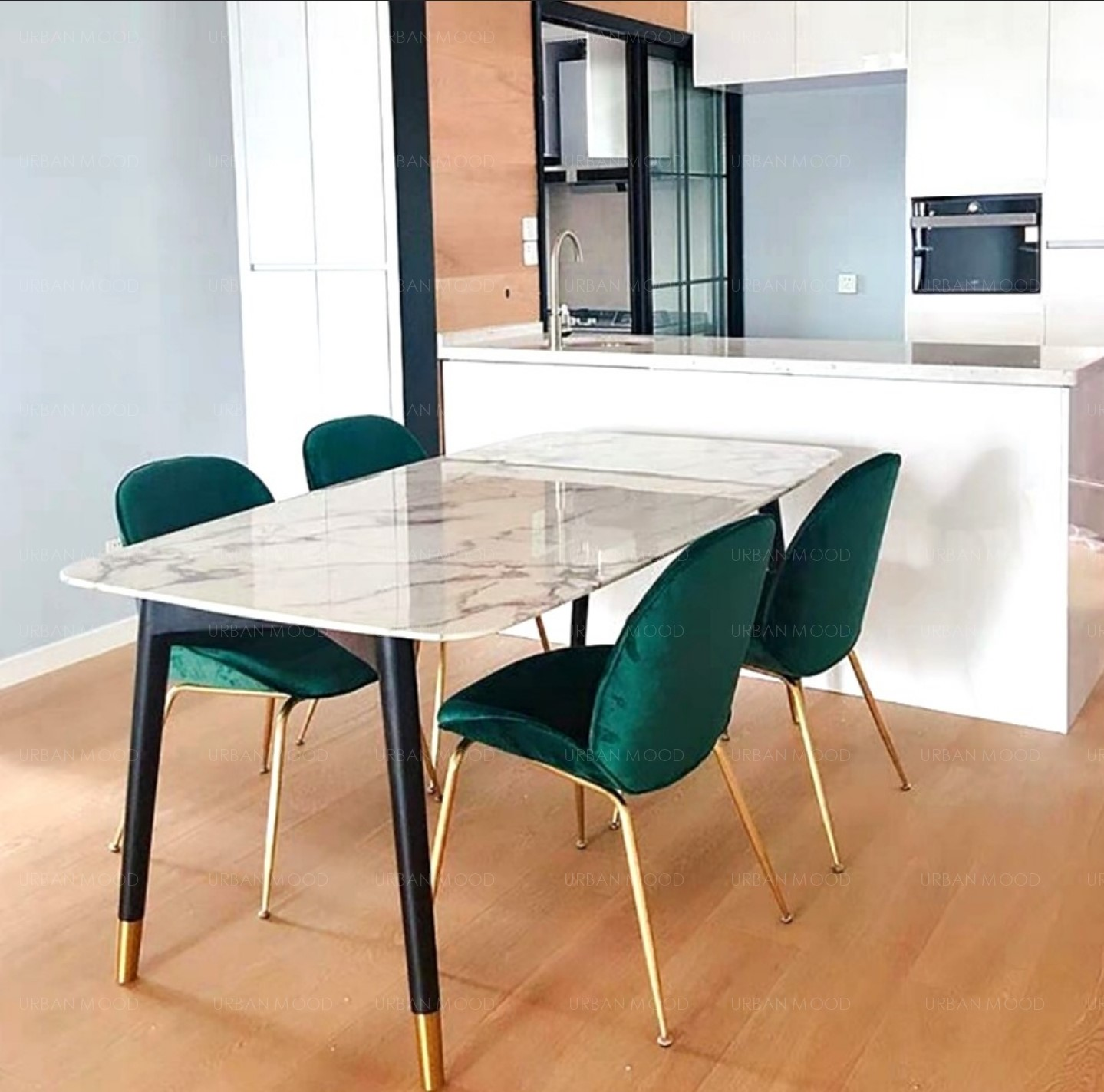 Pre Order MIKAL Marble Dining Table Deliver in 9 9 Weeks ...