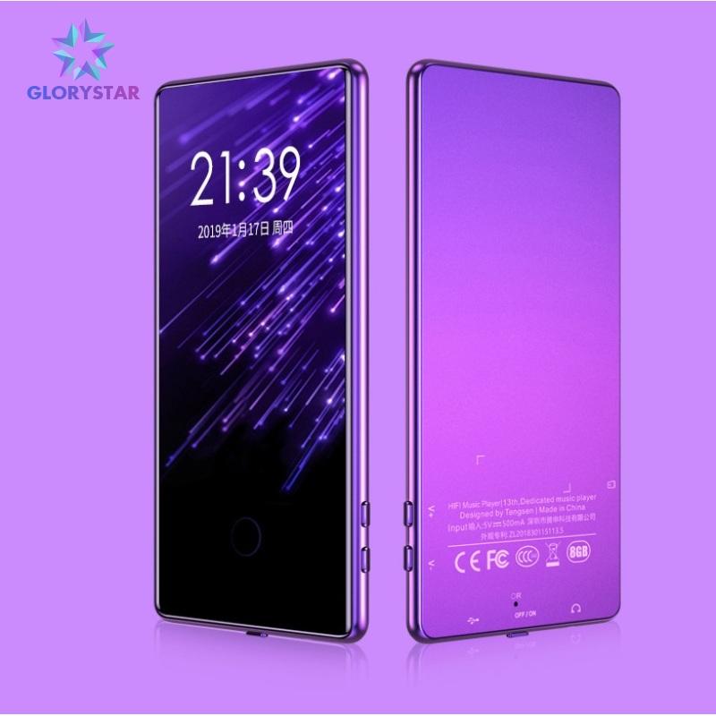 Máy Phát Nhạc Bluetooth MP3 Mp4, Đầu Phát Nhạc Lossless Màn Hình Cảm Ứng 8G 16G, Màn Hình 3.6 Inch