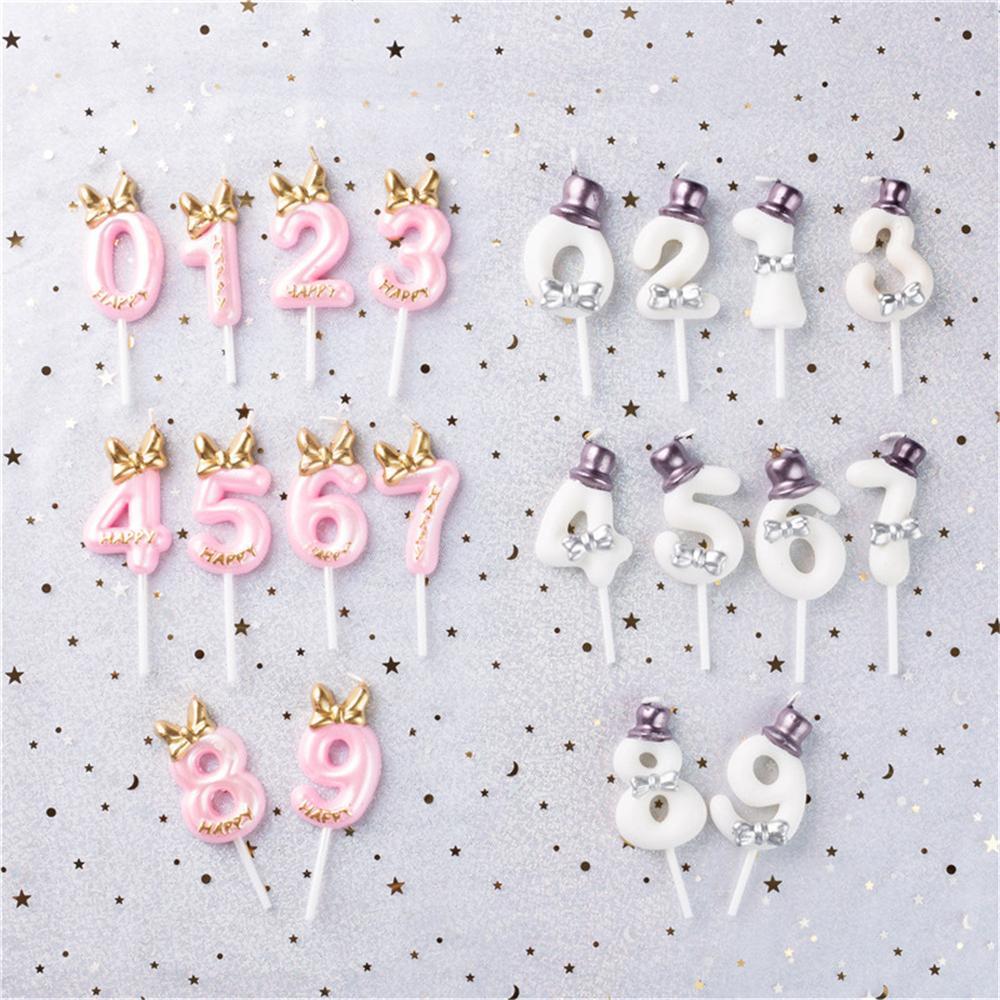 Boys Girls Age Digital Topper Cupcake Baking Wedding Number Cake Candle