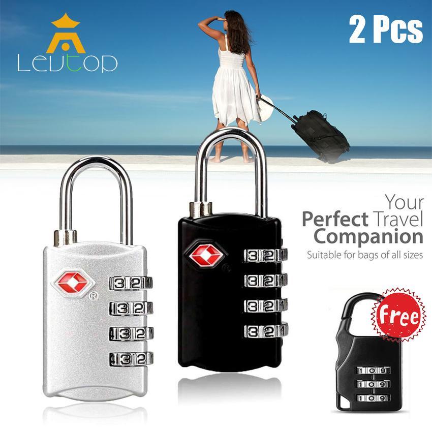 LEVTOP Ổ khóa số Ổ khóa mã số mini khóa vali cao cấp Khoá vali,tủ két mã số tiện dụng ( Có thể đổi mã số ) Bộ 3 Luggage Travel Lock Set