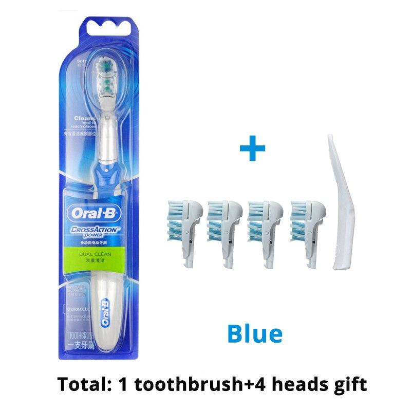 Original Oral B Electric Toothbrush Dual Clean Deep Clean Teeth Brush Aa Battery Non-Rechargeable Power Toothbrush Heads Gift