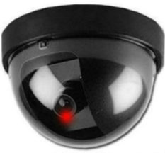Dummy Monitor Camera CCTV Security w/ Flashing Red Light (Black Colour)