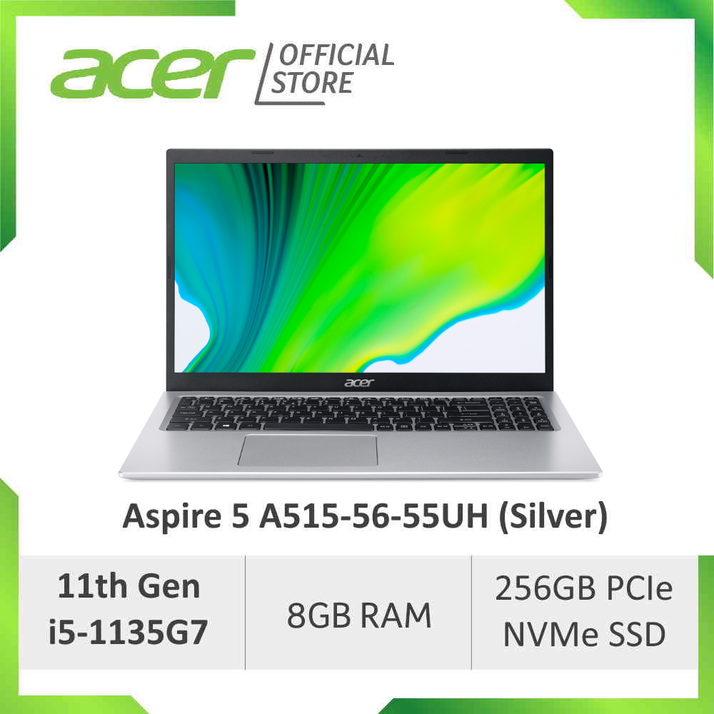 [NEW MODEL] Acer Aspire 5 A515-56-55UH (Silver) 15.6 Inches FHD Laptop with latest 11th Gen i5-1135G7 Processor