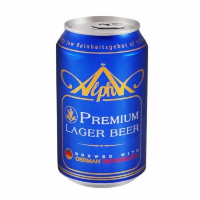 Alpha Beer Can - 320 ml x 24 cans