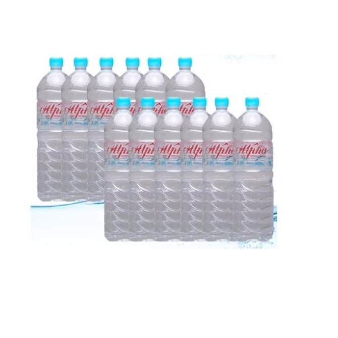 Alpha Pure Drinking Water - 12 bottles x 1500 ml