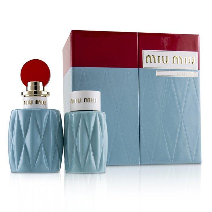 Miu Miu Miu Miu Coffret: Eau De Parfum Spray 100ml/3.4oz + Perfumed Body Lotion 100ml/3.4oz 2pcs