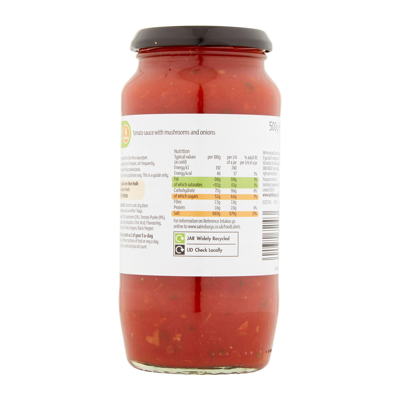 Sainsbury S Tomato And Mushroom Pasta Sauce Lazada Singapore