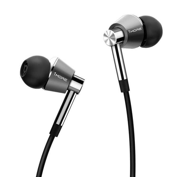 1MORE E1001 Triple Driver In-Ear Headphones (Earphones/Earbuds/Headset) with Apple iOS and Android Compatible Microphone and Remote