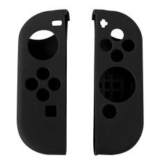 1Pair Portable Protect Cover Soft Silicone Anti-Slip Case Skin Guard for Left Right Nintendo Switch Joy-Con Controller Black – intl