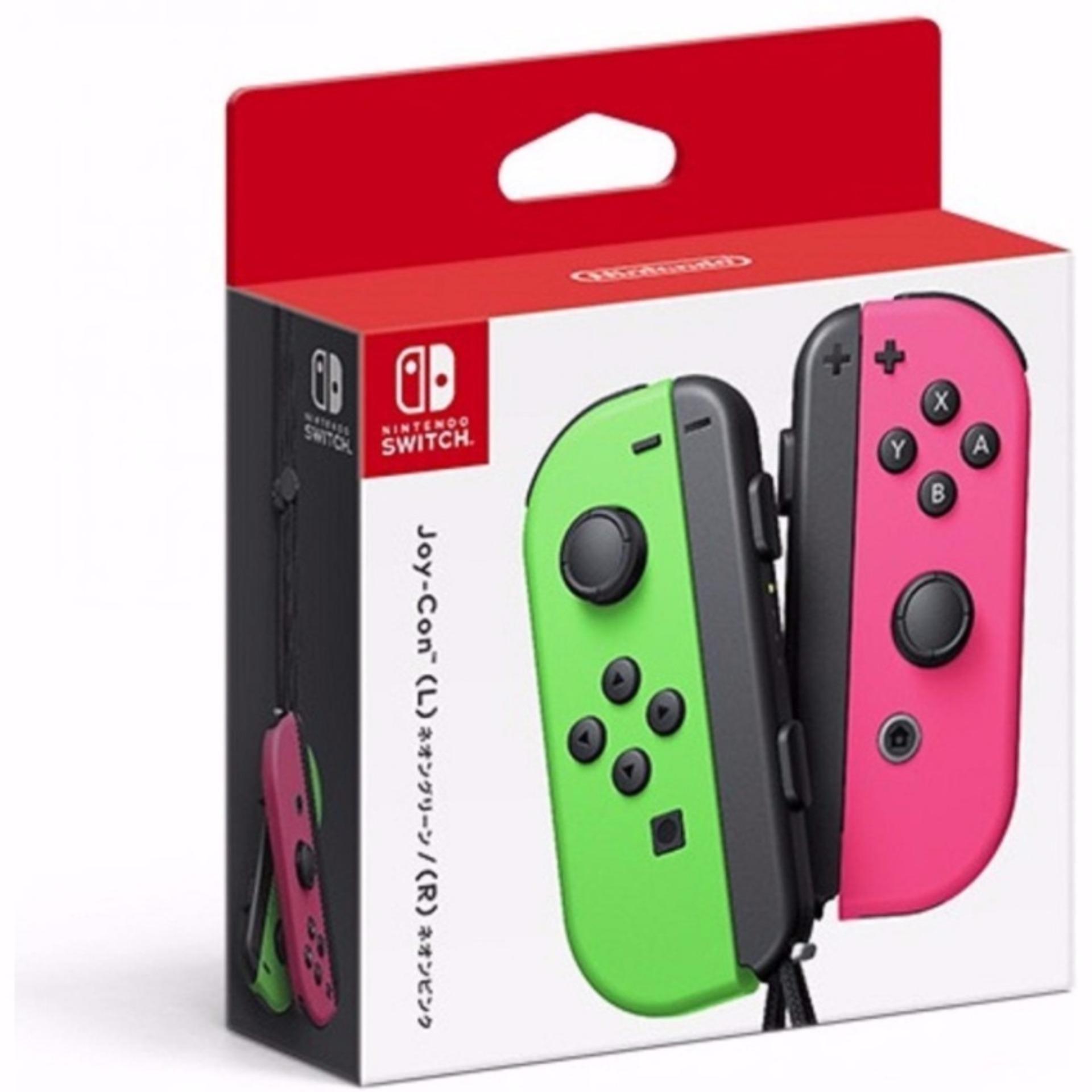 [3 Months Local Warranty] Nintendo Switch Joy-con Neon Green Neon Pink Controller
