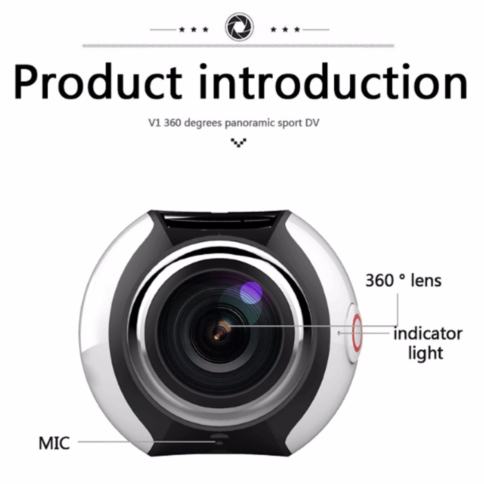 360 Action Camera Ultra HD 4K Build in WI-FI 16MP 3D Waterproof Sports Camera 30m Driving VR Camera Action Video...