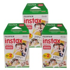 60 Sheets Fujifilm Instax Mini Twin Film (3 Twin Pack)