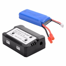 7.4V 2000mAh 25C Lipo Battery+2 in 1 Battery Balance Charger For Syma X8HW BC586 – intl