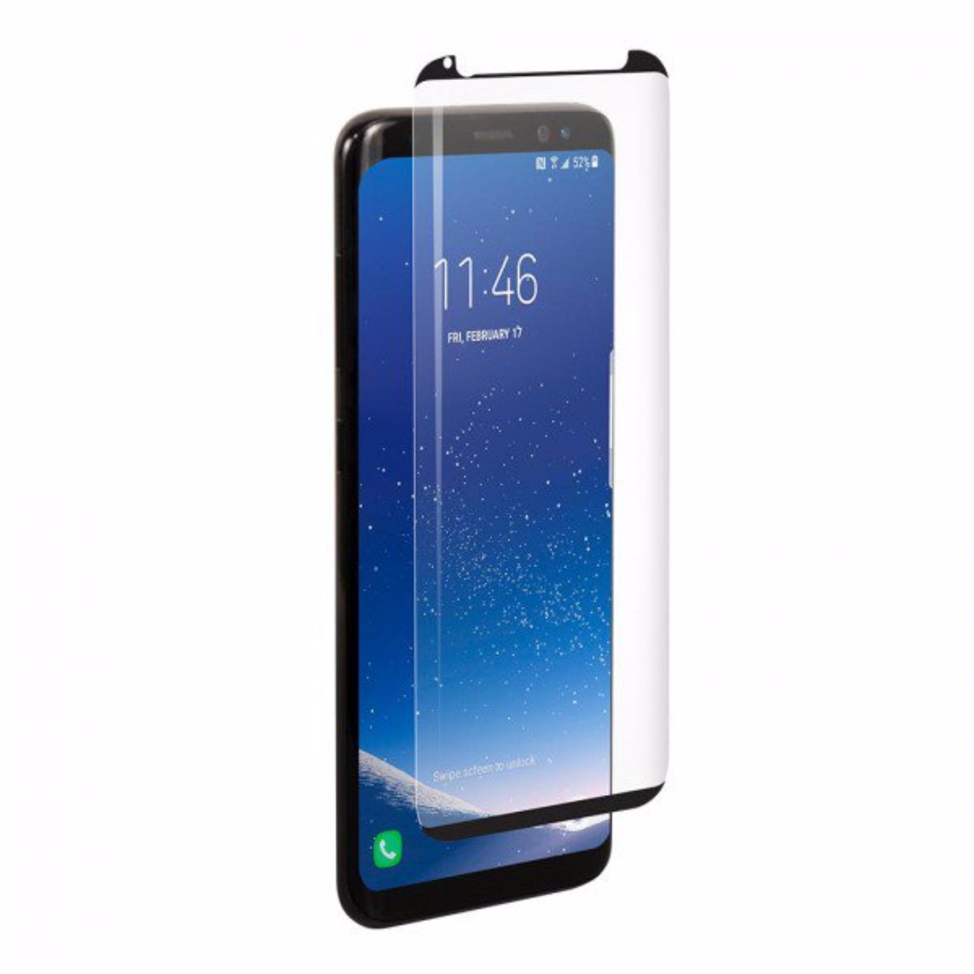 9H Hardness CASE FRIENDLY Samsung S8 Plus Tempered Glass (Black)