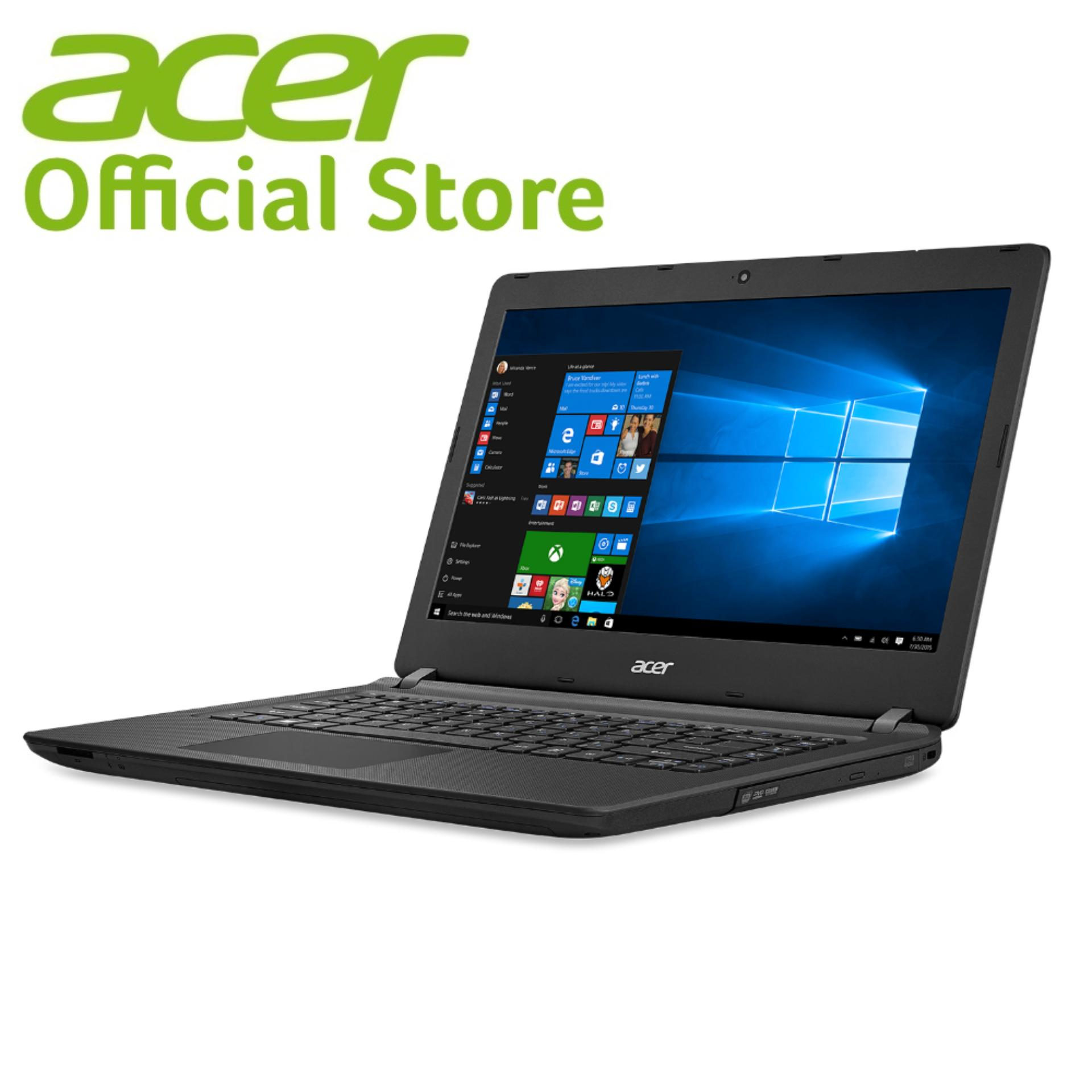 Acer Aspire ES14 (ES1-432-C8P1) – 14″/Celeron N3350/4GB/1TB/DVDRW/W10 (Black)