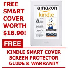 GeekBite Amazon Kindle 8th Gen White + Kindle Smart Cover + Screen Protector (Wifi/Special Offers)