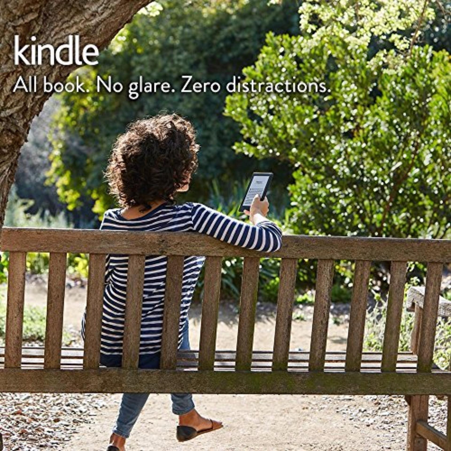 Amazon Kindle 8th Gen Black 2016 (Latest, With Special Offers, USA Edition) + 1 x Glossy, 1 x Matt Screen...
