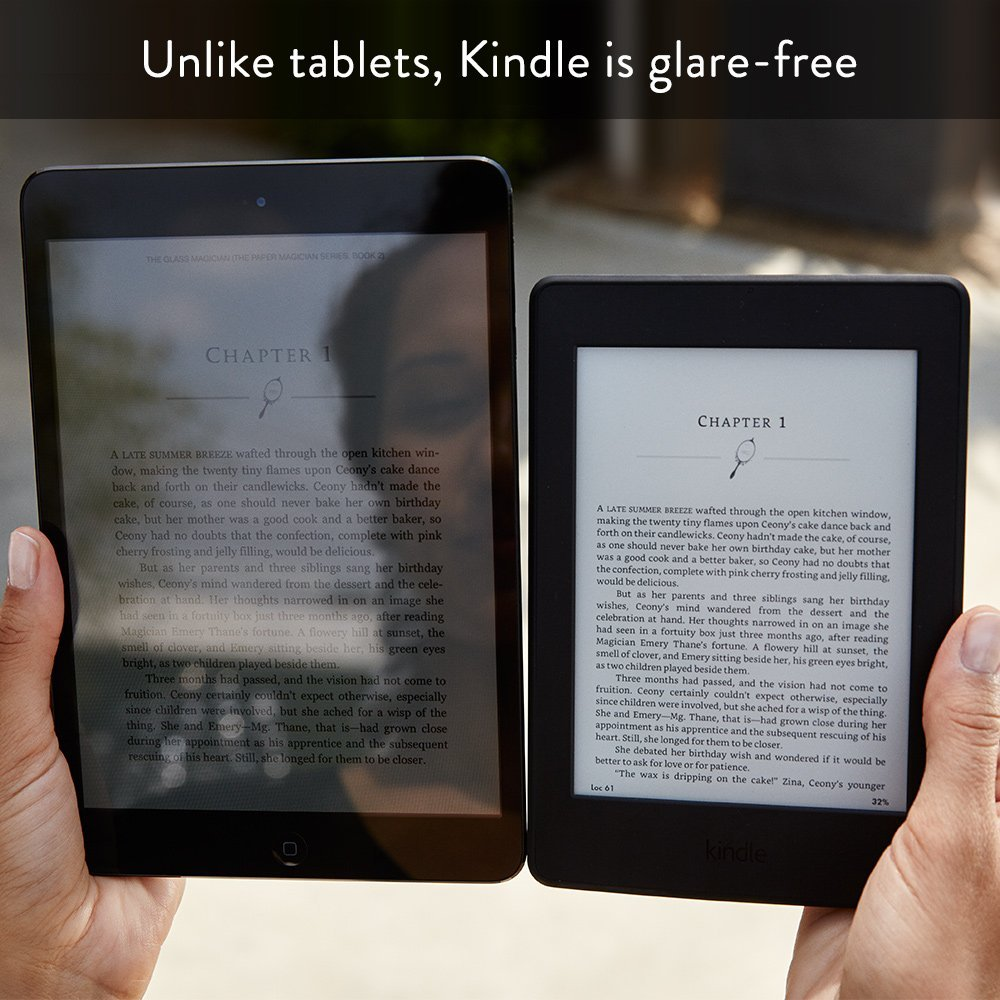Amazon KINDLE Paperwhite (Wi-Fi Only, Without Special Offers, 4GB, 300PPI, White)
