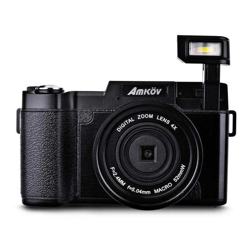 Amkov 24MP 4x Zoom Digital Camera Video Flip Screen Camcorder w/ UV Filter – intl