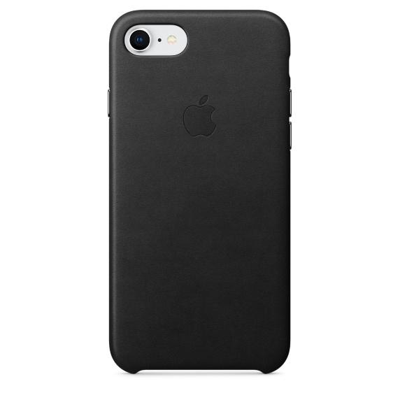Apple iPhone 8 / 7 Leather Case Black
