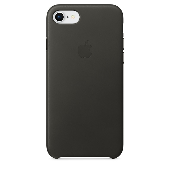 Apple iPhone 8 / 7 Leather Case Charcoal Grey