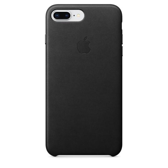 Apple iPhone 8 Plus / 7 Plus Leather Case Black