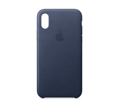 Apple iPhone X Leather Case Midnight Blue
