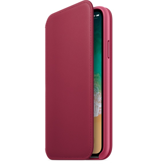 Apple iPhone X Leather Folio Berry