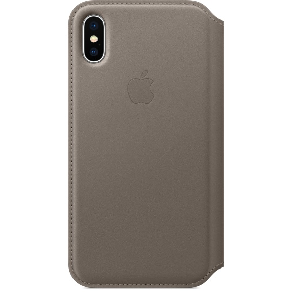Apple iPhone X Leather Folio Taupe